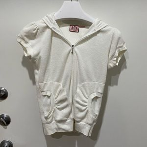 white terry cloth juicy couture tracksuit jacket